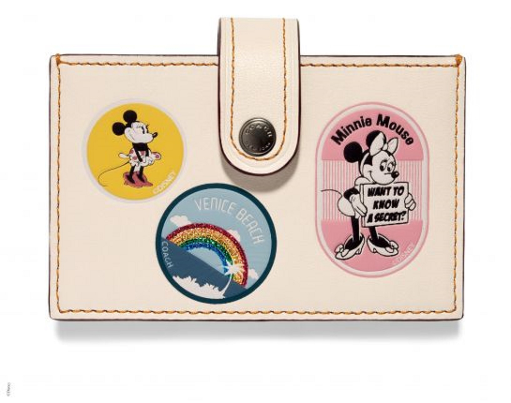 Disney x Coach Accordion Card Case With Minnie Mouse, _INR 6000, available at Coach. (1)