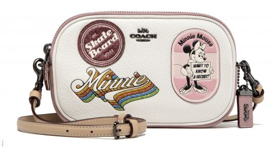 Disney x Coach Crossbody Clutch With Minnie Mouse Patches, _INR 16000, available at Coach. (1)