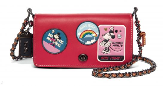 Disney x Coach Dinky With Minnie Mouse Patches, _INR 31500, available at Coach.
