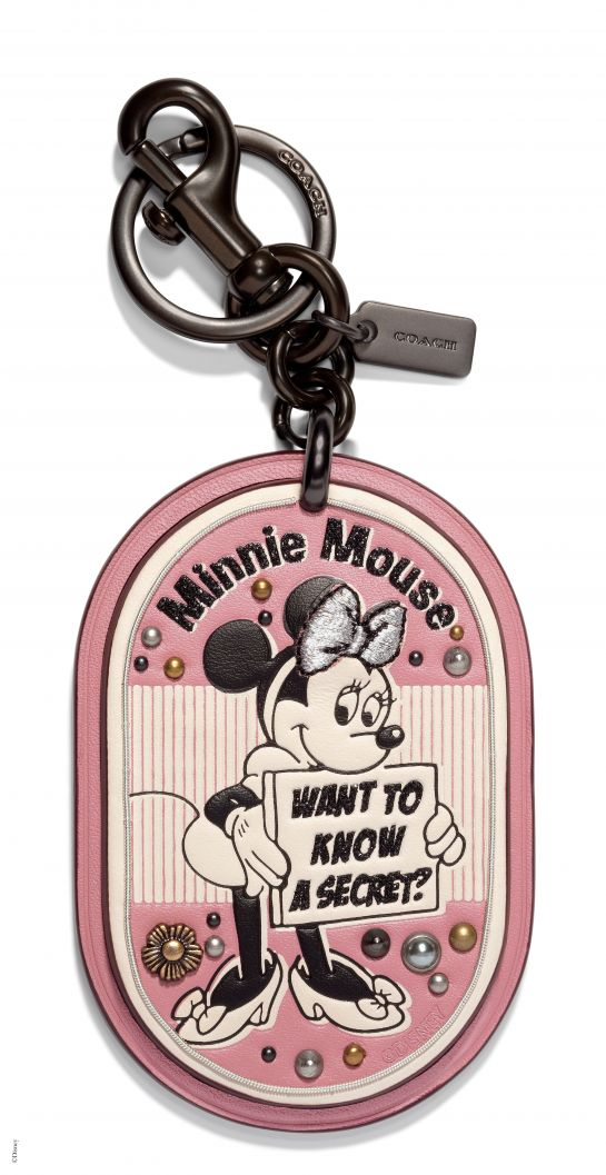 Disney x Coach Minnie Mouse Secret Patch Bag Charm, _INR 6000, available at Coach. (1)