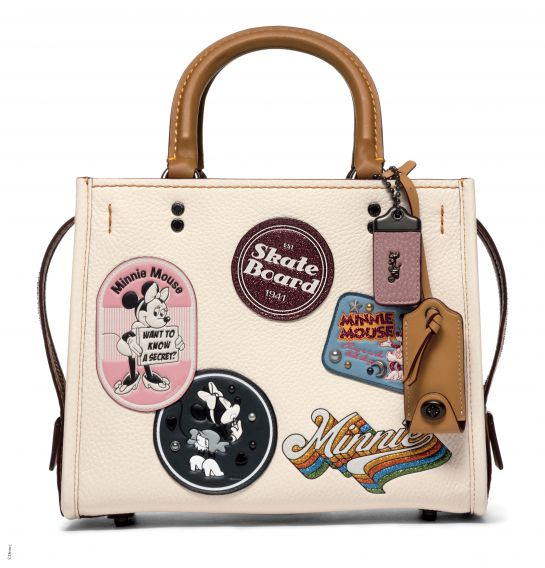 Disney x Coach Rogue 25 With Minnie Mouse Patches, _INR 44250, available at Coach. (1)