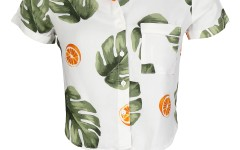 Leaf print crop shirt for women- Rs. 1199