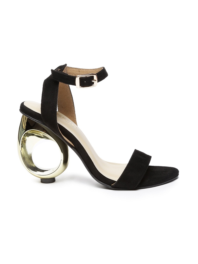 Monrow-Women-Black and gold-heels