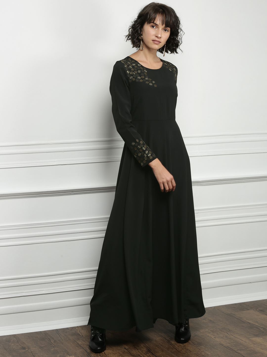 Myntra- All About You from Deepika Padukone Women Black Solid Maxi Dress- Rs. 2699