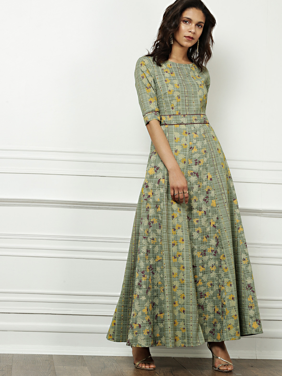 Myntra -All About You from Deepika Padukone Women Green Printed A-line Dress- Rs. 2499