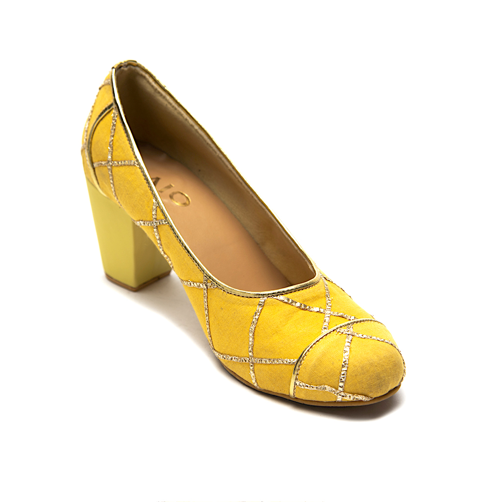 PAIO_MONICA YELLOW EMBROIDERED COURT HEELS_INR 3,190 (1)