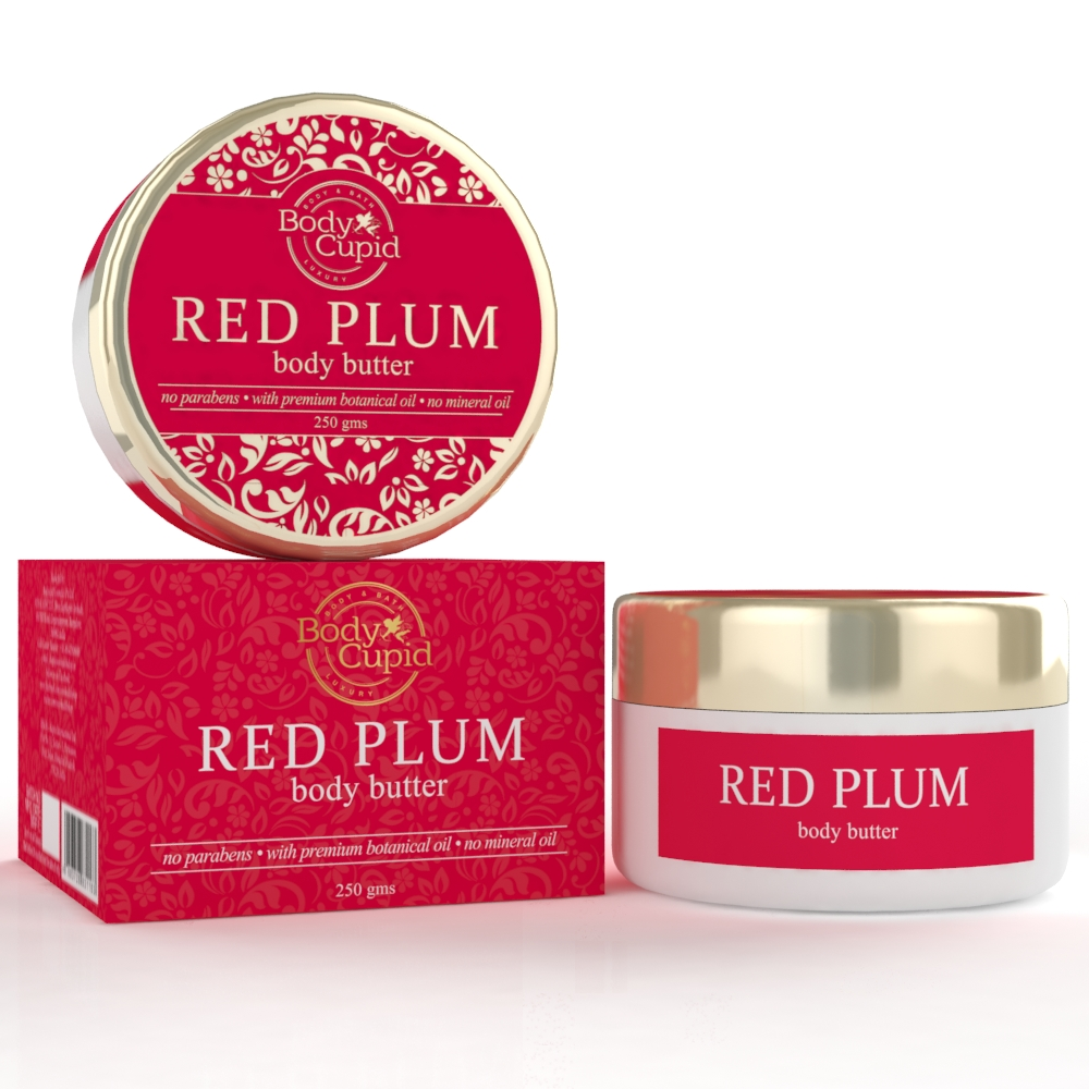 Body Cupid Red Plum Body Butter - 250mgs