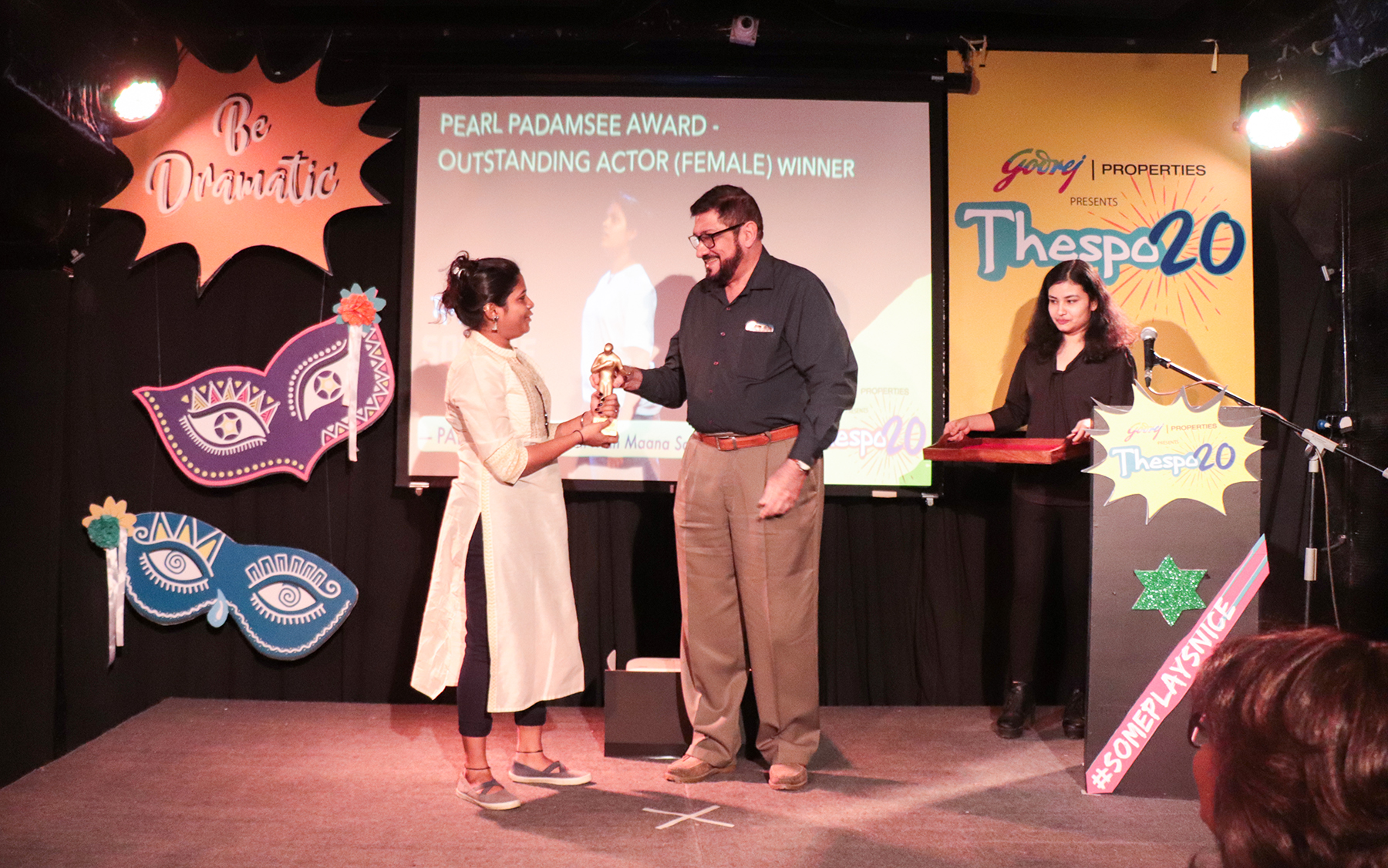 T20 Award - Pearl Padamsee Outstanding Actor Female - Pallavi Jadhao - Man Maana Square