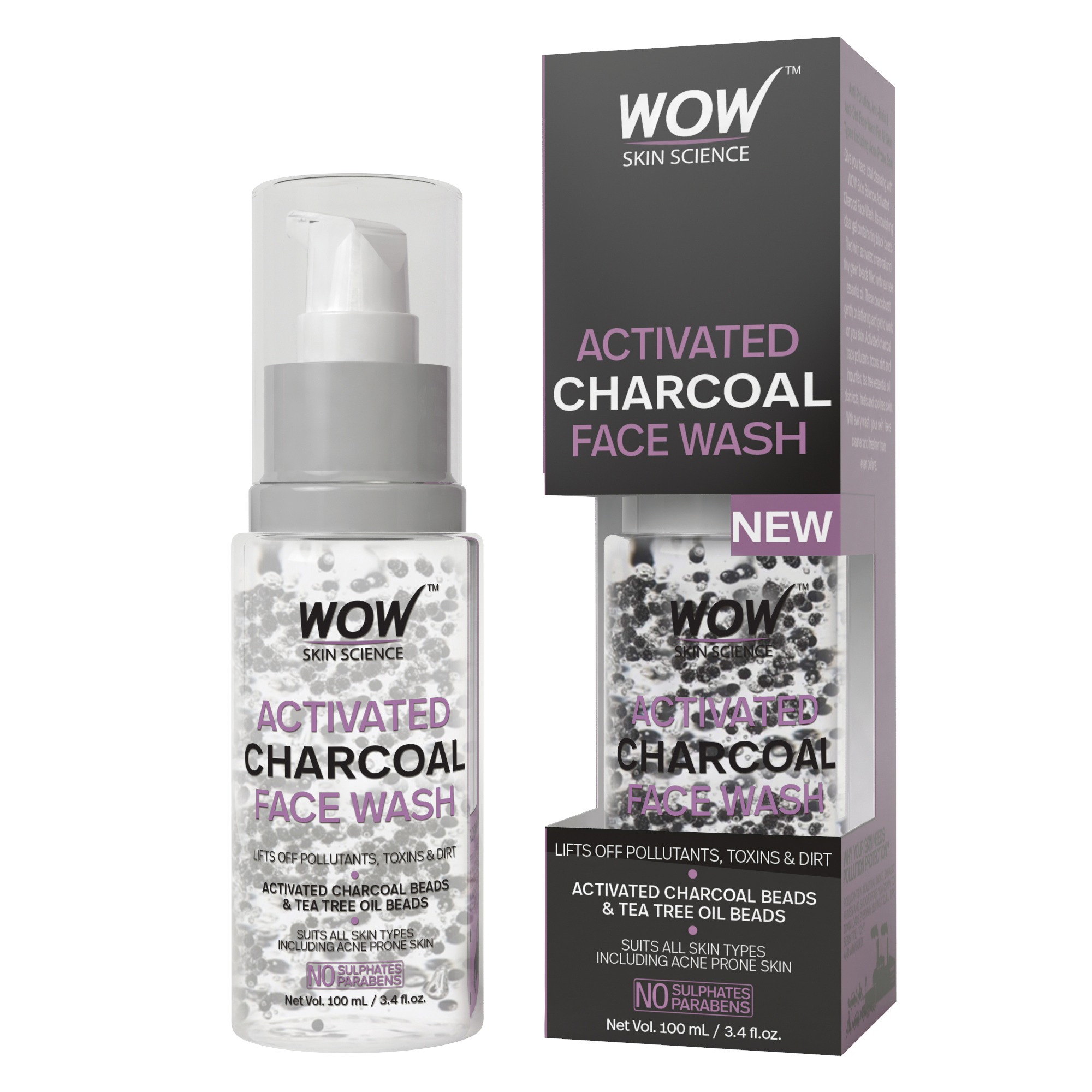 WOW Skin Science Activated Charcoal Face Wash - 100 mL_INR 349 (2)