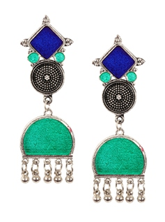 Blue and green earrings (1)
