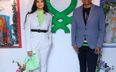 Talent Powerhouse Rhea Kapoor & Sundeep Chugh - MD & CEO of Benetton India at the launch of Benetton's collectible art line (2)