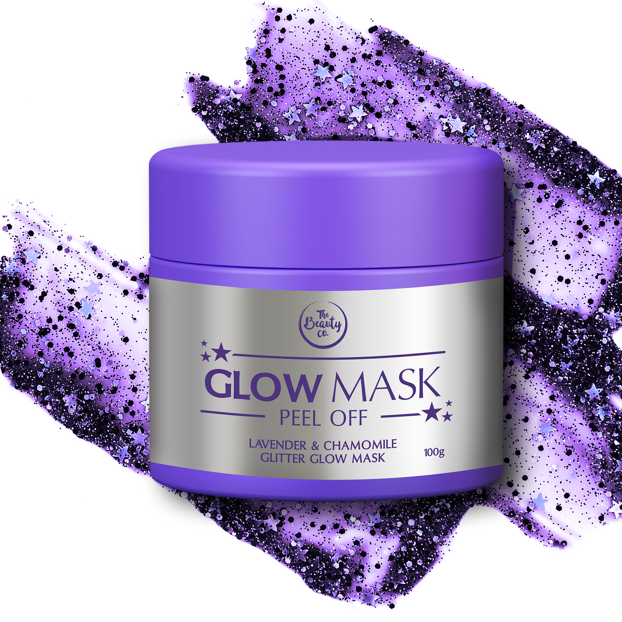 The Beauty Co. Lavender and Chamomile Glitter Glow Mask_INR 899