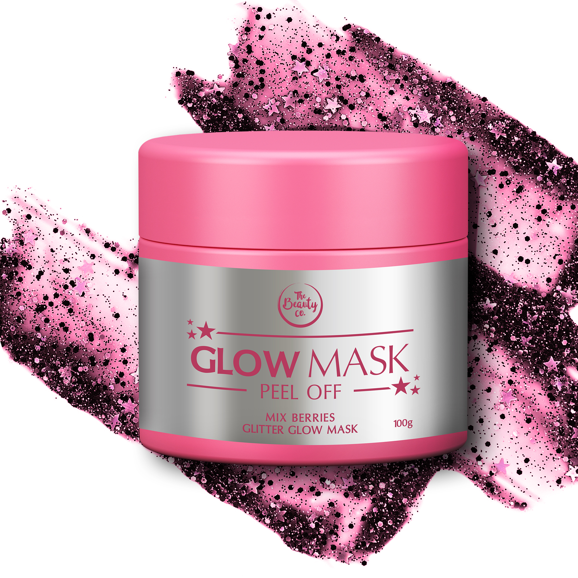 The Beauty Co. Mix Berries Glitter Glow Mask_INR 899
