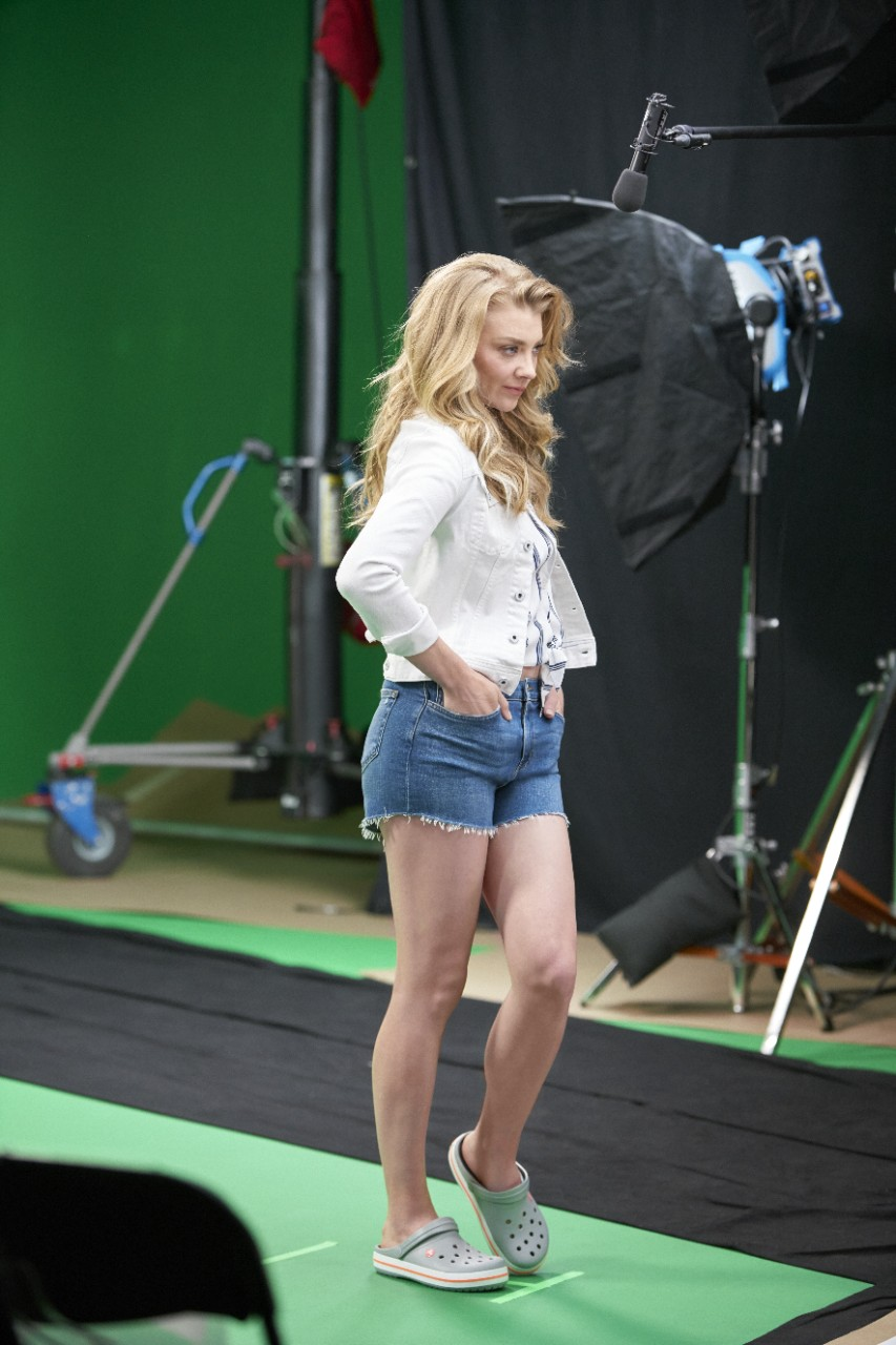 Behind the scene images- Actress Natalie Dormer -(from the starcast of Game of Throne)for Crocs CAYA Campaign 1