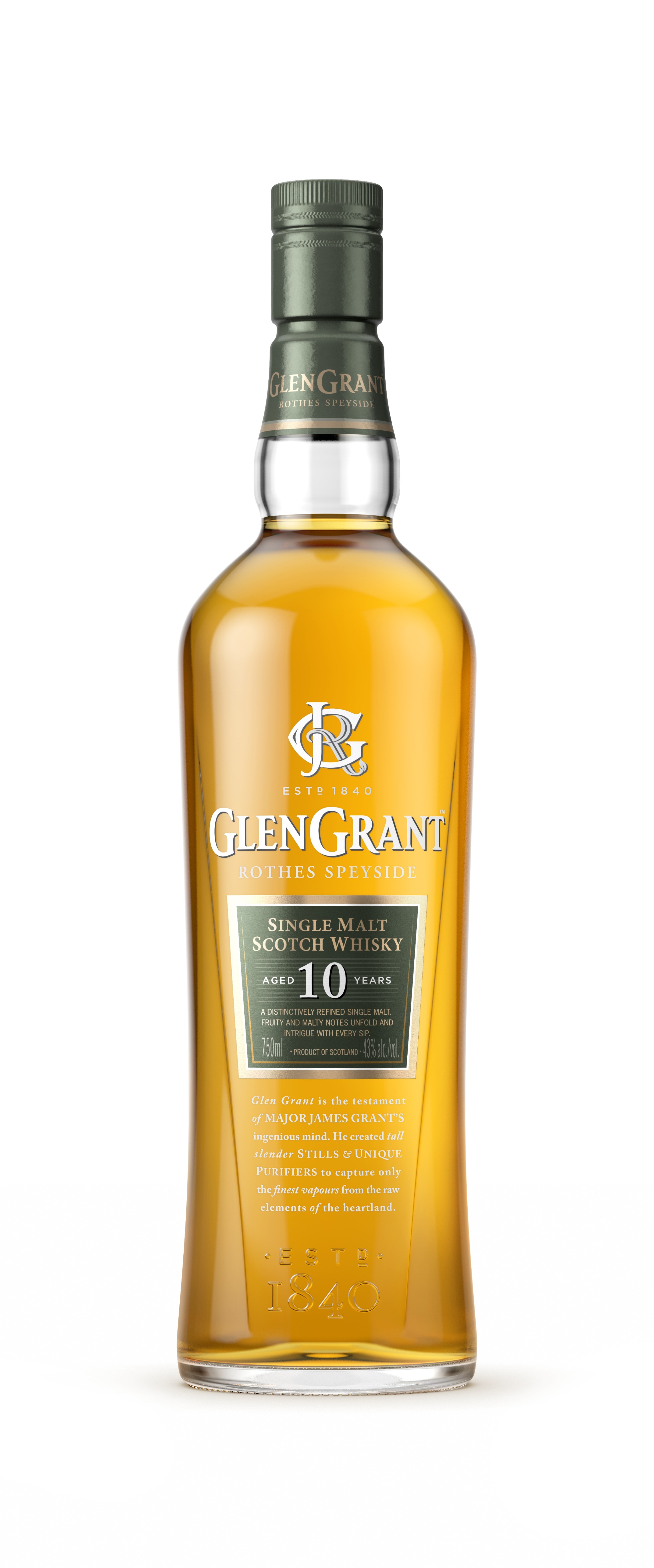GG 10yo Bottle Render Front (750ml) -